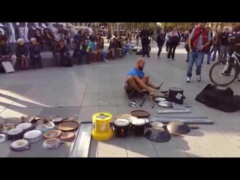 Dario Rossi Drummer Amazing full performance at Place de La République Paris SEP2015