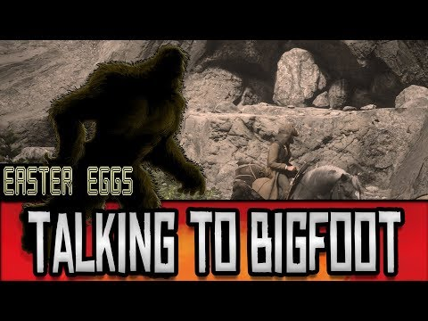 Red Dead Redemption 2 - Secret Talk With a Giant BIGFOOT // Easter Eggs