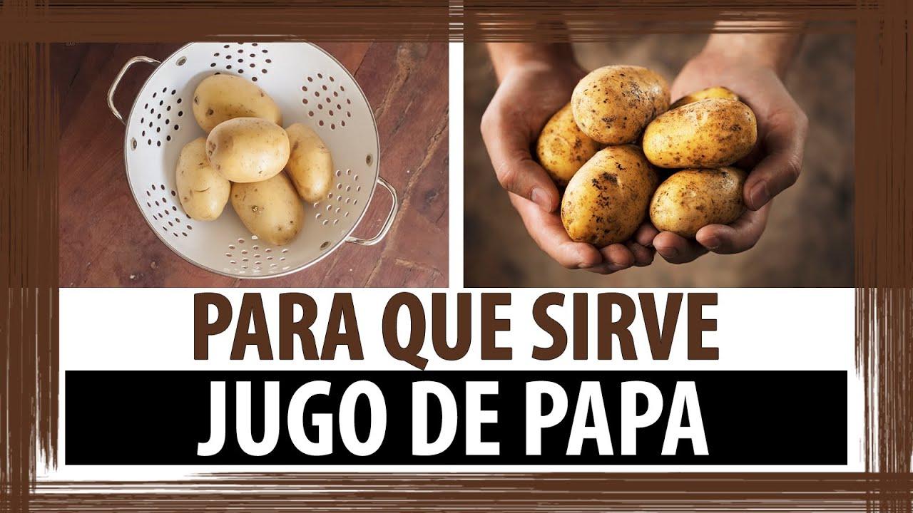 PARA QUE SIRVE EL JUGO DE PAPA - YouTube