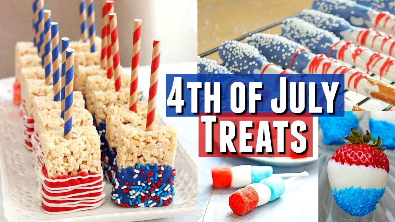 Quick And Easy Diy Fourth Of July Treats Easy Patriotic Treats For 4th Of July Party Youtube