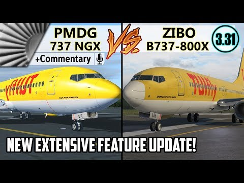 PMDG 737 NGX vs. ZIBO B737-800X v3.31 UPDATED + COMMENTARY! | THE MORE ULTIMATE COMPARISON