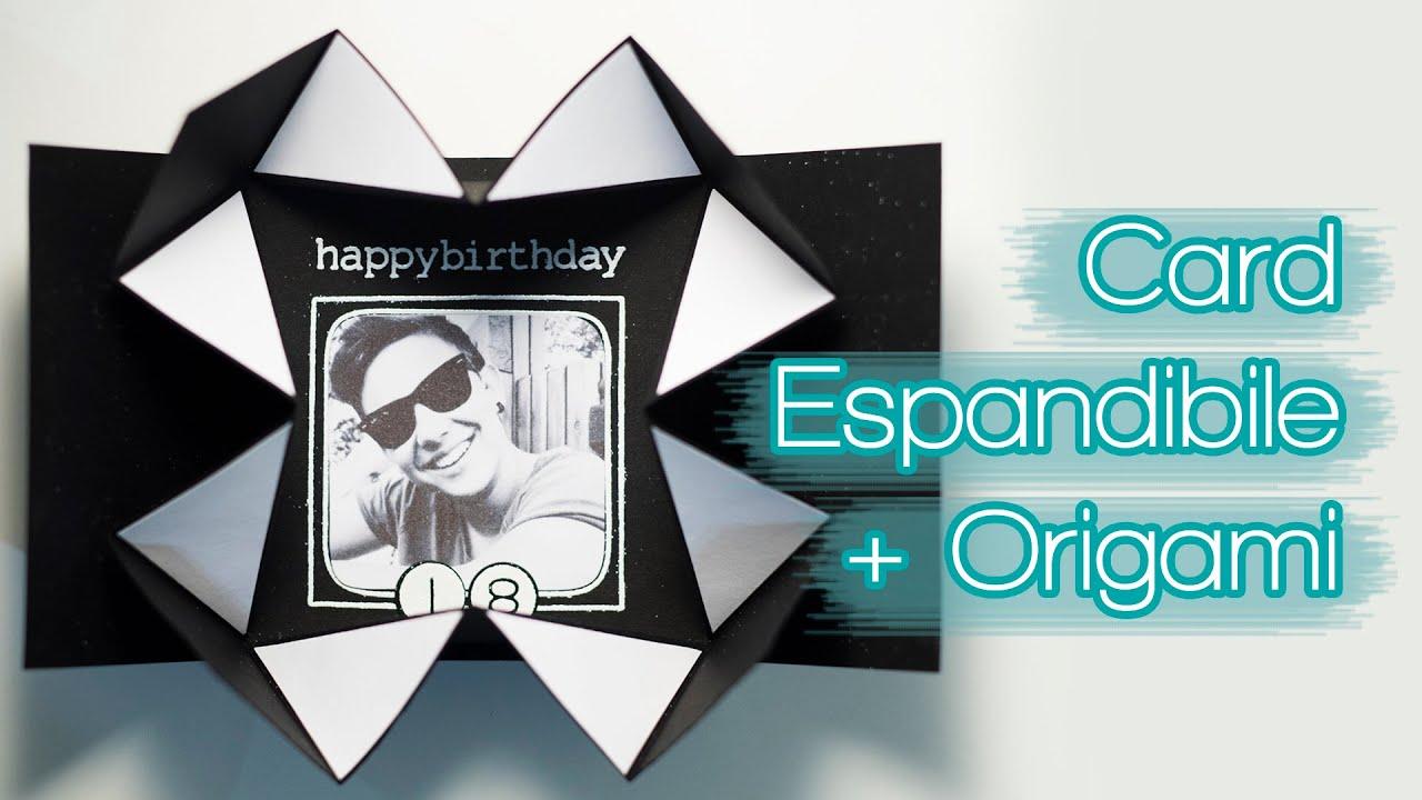Famoso Biglietto Espandibile + Origami - Maschile - Auguri Compleanno UI25