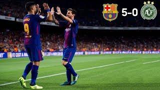 FC Barcelona 5-0 Chapecoense | Maç Özeti, Tüm Goller | Joan Gamper Kupası 07/08/2017 • HD
