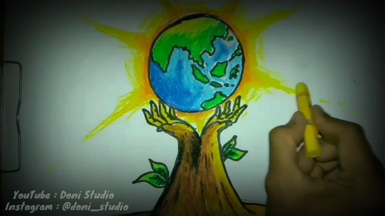 Cara Membuat Poster Lingkungan Hidup Poster Bumi Hijau