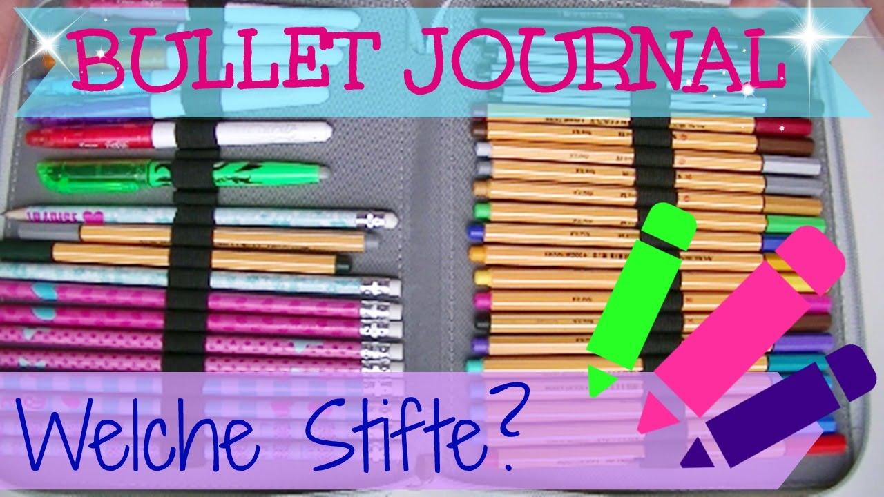 bullet journal i welche stifte  i radierbare stifte  i