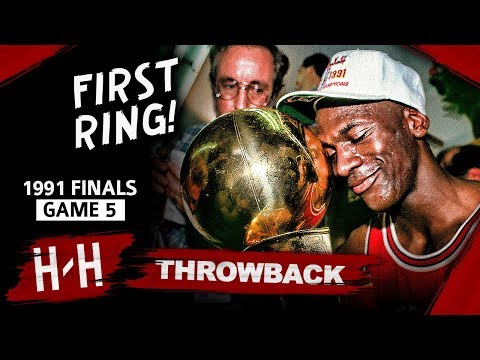 Michael Jordan 1st Championship, Game 5 Highlights vs Lakers 1991 Finals - 30 Pts, 10 Ast, UNREAL