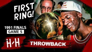 Michael Jordan 1st Championship, Game 5 Highlights vs Lakers 1991 Finals - 30 Pts, 10 Ast, UNREAL