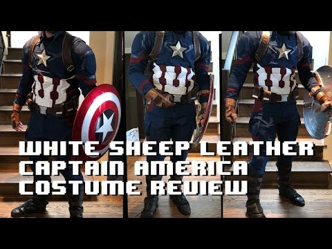 Best captain america costume? White sheep leather review