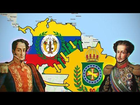 La Casi Guerra entre la Gran Colombia y el Imperio del Brasil.