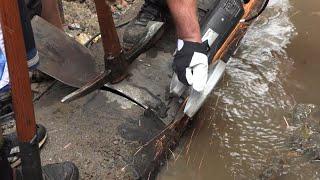 Vadjenje cevi iz korita reke - Rakita