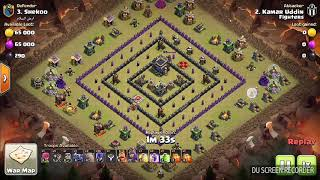 WiTch SLap Th9 || 3star Attack in war || Clash of clans || Th9 vs Th9 ||