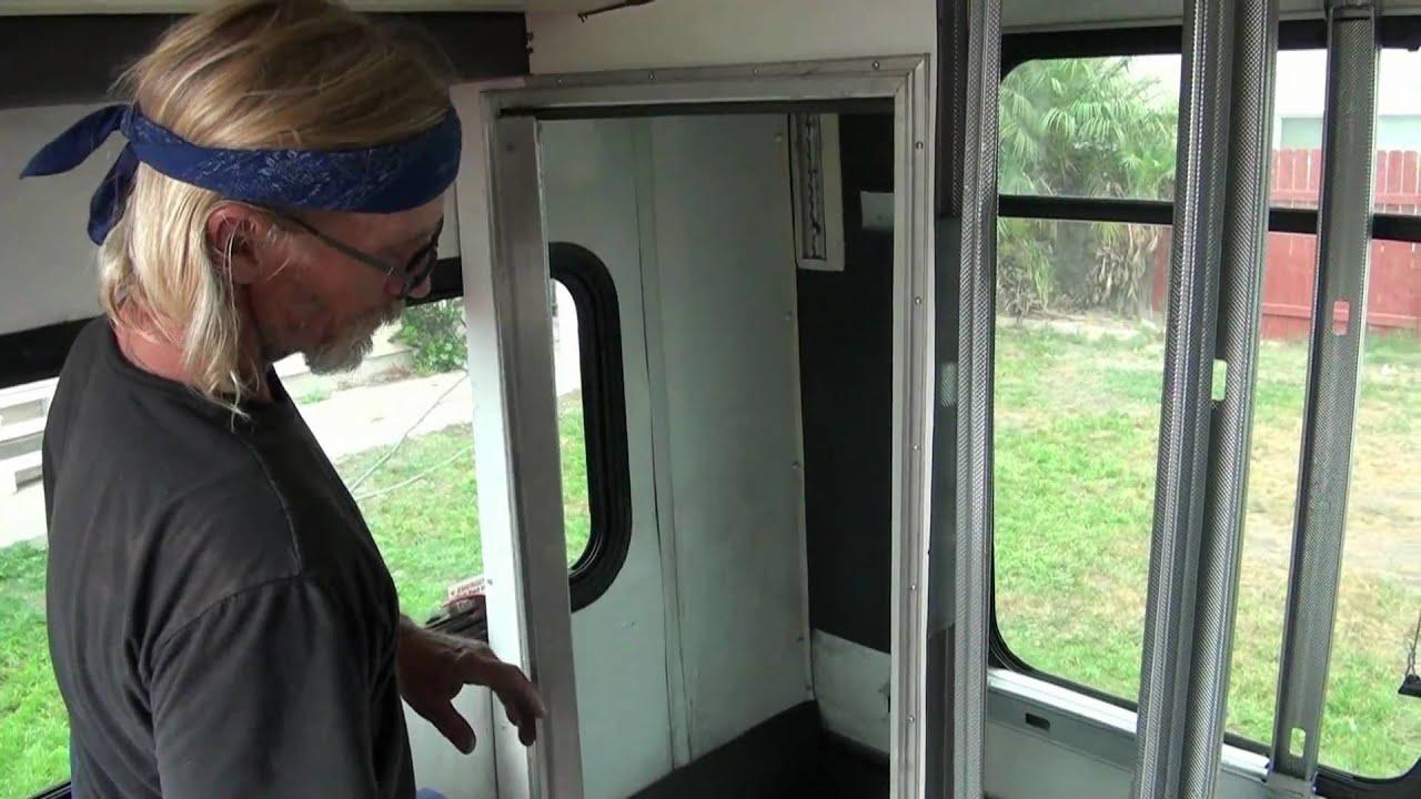Converting Bus Shower Door Youtube