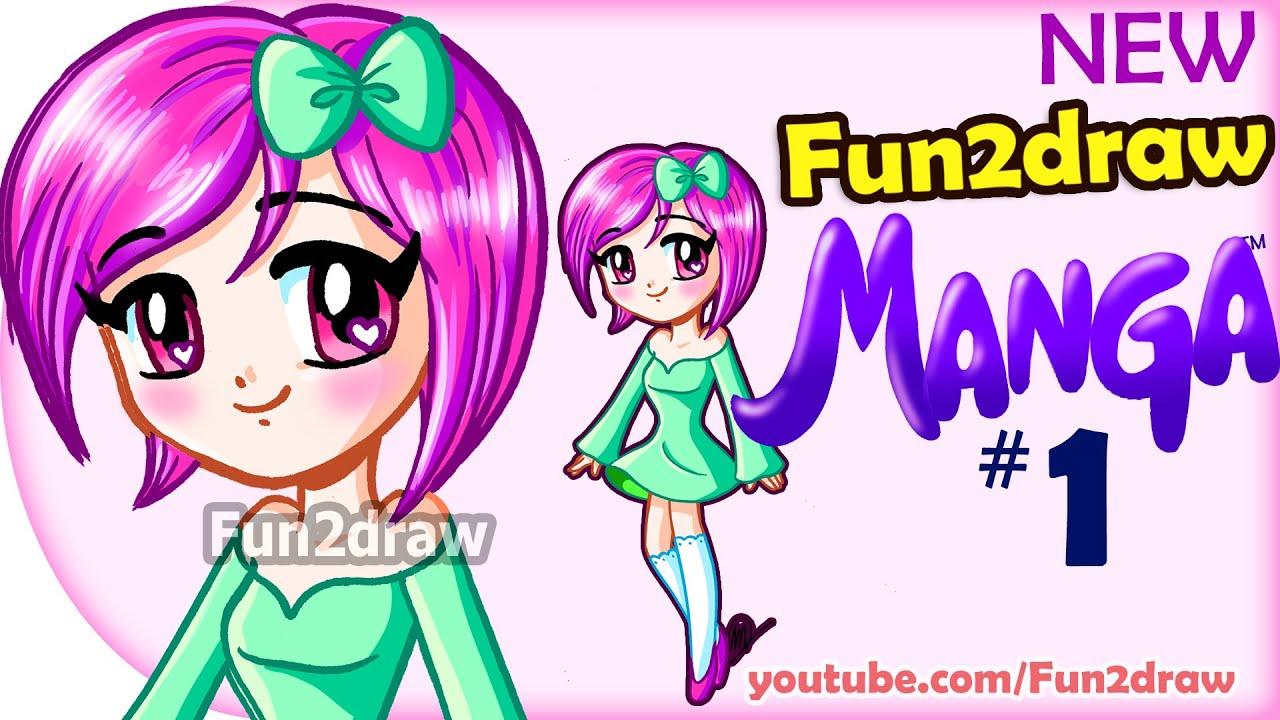 How To Draw  Anime, Manga, Easy  New Fun2draw Manga #1  Cute Girl   Youtube