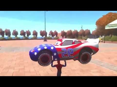 Disney Cars Pixar Spiderman Nursery Rhymes & Lightning McQueen USA (Songs for Children with Action)