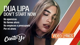 Dua Lipa - Don't Start Now (Lyrics + Español)