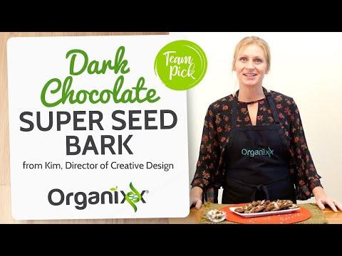 Kim's Dark Chocolate Super Seed Bark | Homemade Chocolate Bark | Organixx Recipe