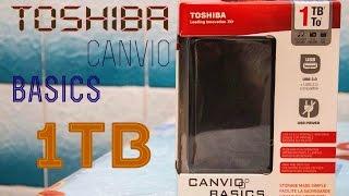Огляд розпакування зовнішнього жорсткого диска 2.5'' 1TB Toshiba canvio basics
