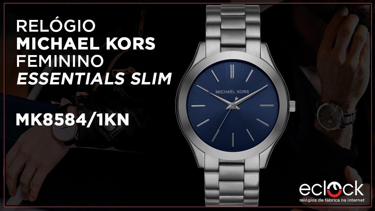 Relógio Michael Kors Feminino Essentials Slim MK8584 1KN - Eclock ... 50bb3387fa
