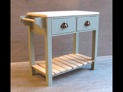112th Scale Kitchen Work Table Tutorial