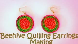 How to Make Beehive Quilling Earrings