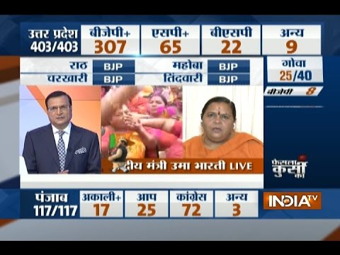 UP Assembly Poll Result: People have clearly rejected SP-Congress alliance in UP, Says Uma Bharti