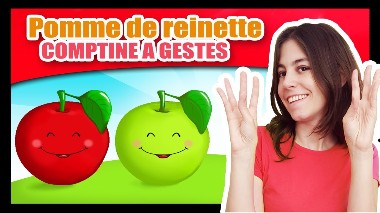 Pomme de reinette et pomme d 39 api comptines gestes pour - Pomme de reinette et pomme d api tapis tapis rouge ...