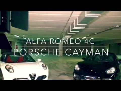 Porsche Cayman vs Alfa Romeo 4c underground parking drift