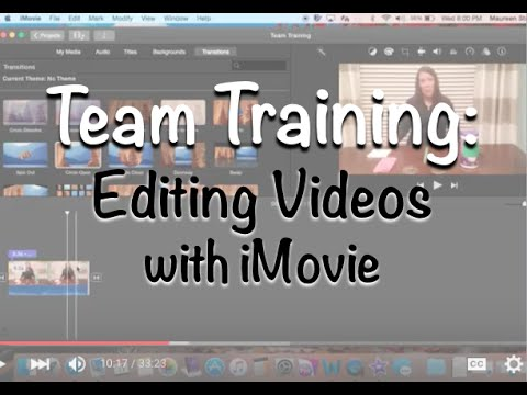 Team Training: Editing videos with iMovie
