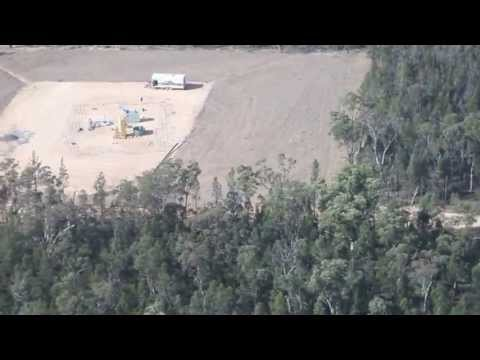 Fly Over of the Coal Seam Gas Fields