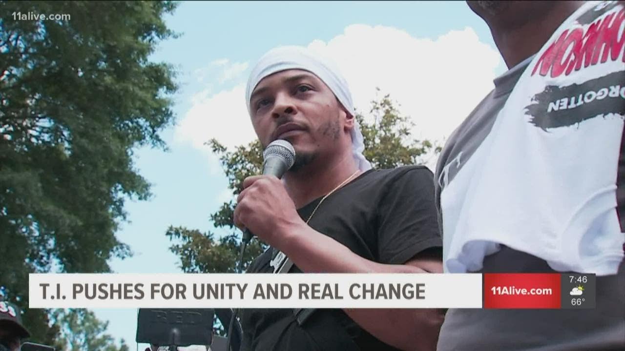 Black People must UNITE. T.I. joins protests in Atlanta after Rayshard Brooks' murder