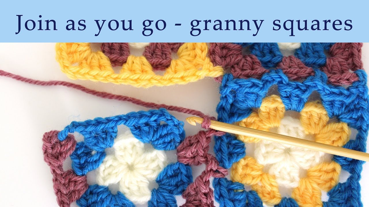 How To Join Granny Squares On The Last Row