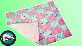 Coser manta para bebé   Con restos de tela   Manta para bebé con patchwork   Aprende costura