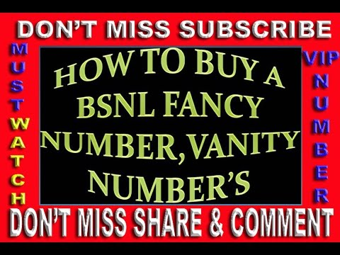ALL INDIA BSNL Fancy Mobile Numbers Search Your Choice VIP Vanity Number