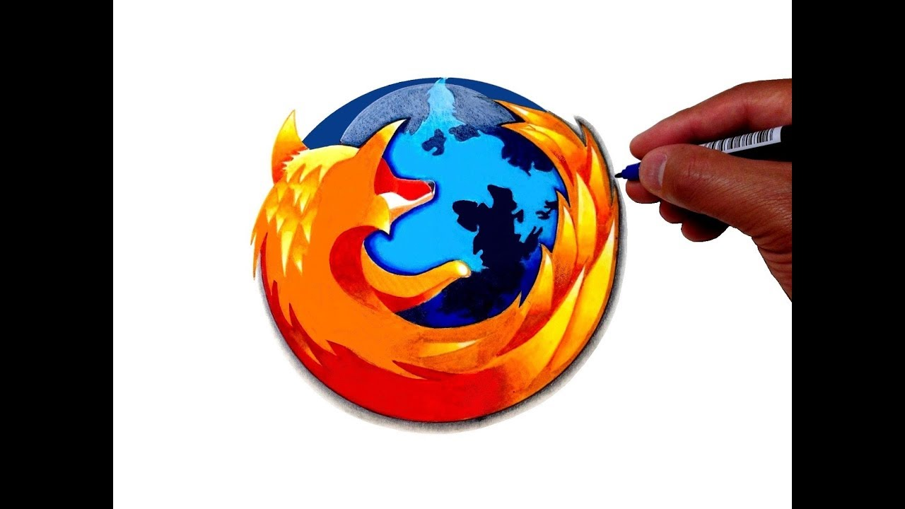 How to Draw the Firefox Logo - YouTube