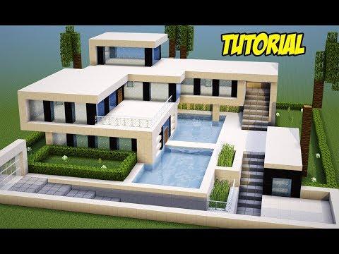 Minecraft Tutorial : MANSÃO ULTRA MODERNA (Completa)