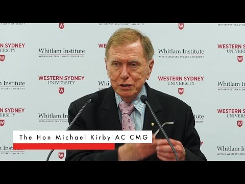 Full Event: Michael Kirby on the Marriage Plebiscite