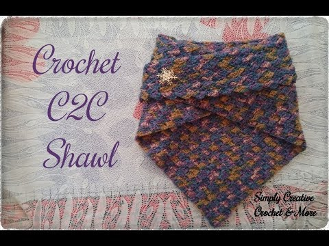 How to crochet C2C Shawl | for beginners | written
