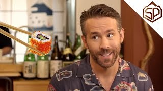 Райан Рейнольдс даёт интервью и учится готовить суши | Покемон. Детектив Пикачу