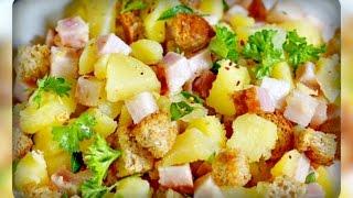 Тёплый картофельный салат с беконом