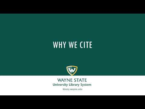 Why We Cite (Examples in APA Format)