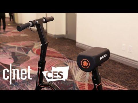 66fce4a024 Smacircle  This folding e-bike fits in a backpack - YouTube