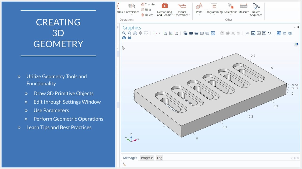 How to Use 3D Geometry Tools in COMSOL Multiphysics® - YouTube