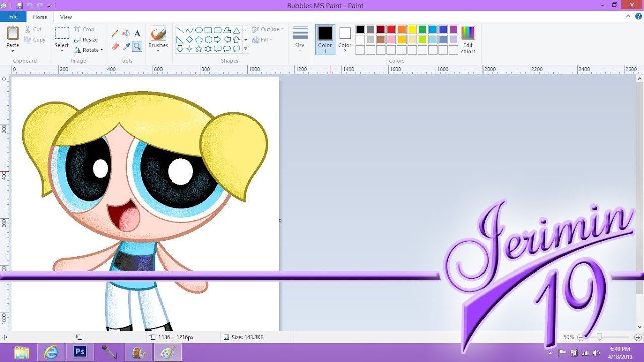 PPG: Bubbles MS Paint (Speed Paint) - YouTube
