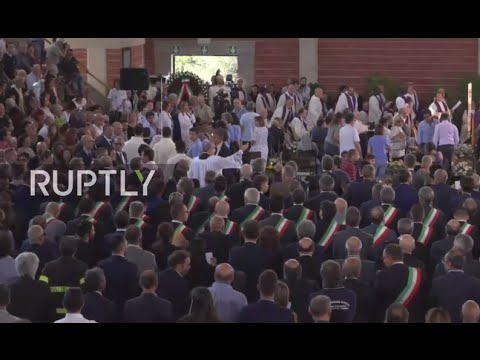 LIVE: Arquata del Tronto holds funeral for victims of earthquake in central Italy