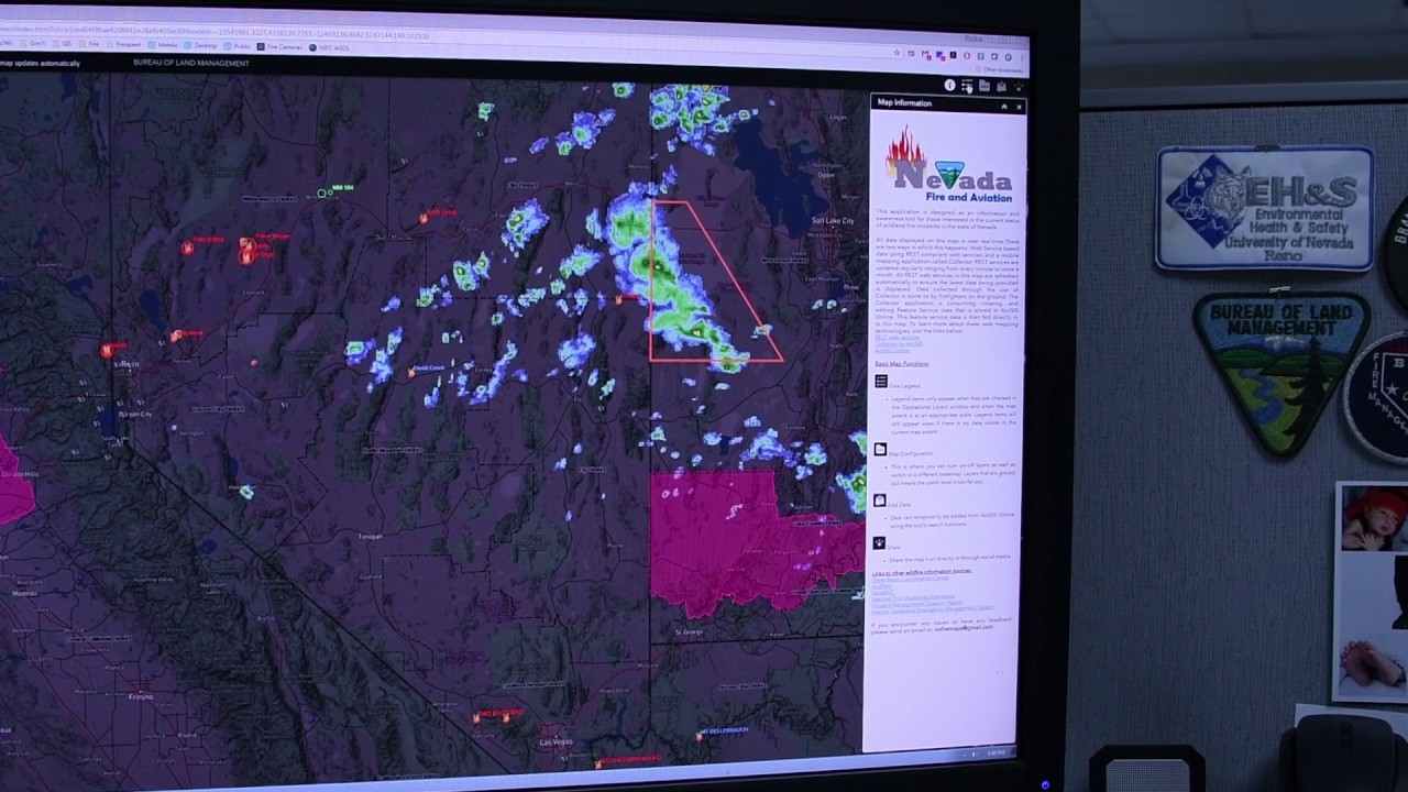 Nevada Fire Map 2017 Youtube