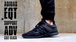ADIDAS EQT SUPPORT ADV COLT BLACK - ON FOOT