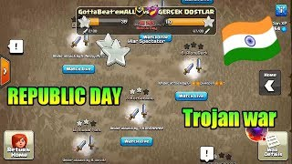 Republic Day Trojan Horse War Event Clash of clans!!