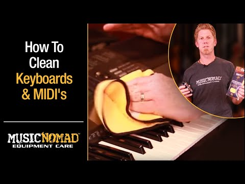 How to Clean Keyboards, MIDI Keyboard Controllers, Keys, Digital Pianos & Matte Finishes