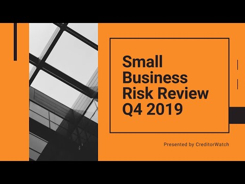 Small Business Risk Review Q4, 2019