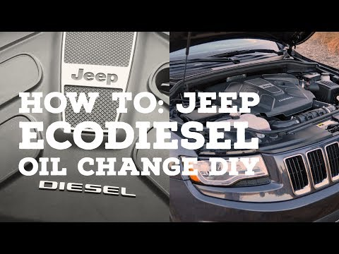 HOW TO: 2014+ Jeep Grand Cherokee EcoDiesel Oil Change Easy DIY